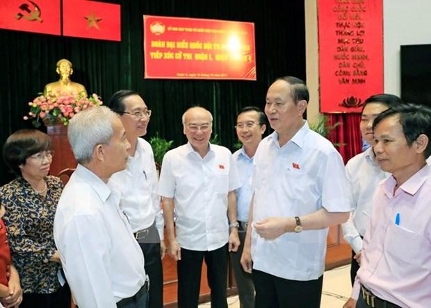 Presidente de Vietnam dialoga con votantes en Ciudad Ho Chi Minh hinh anh 1