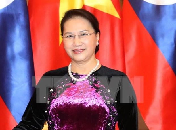 Presidenta del Parlamento vietnamita se reune con su homologo irani hinh anh 1