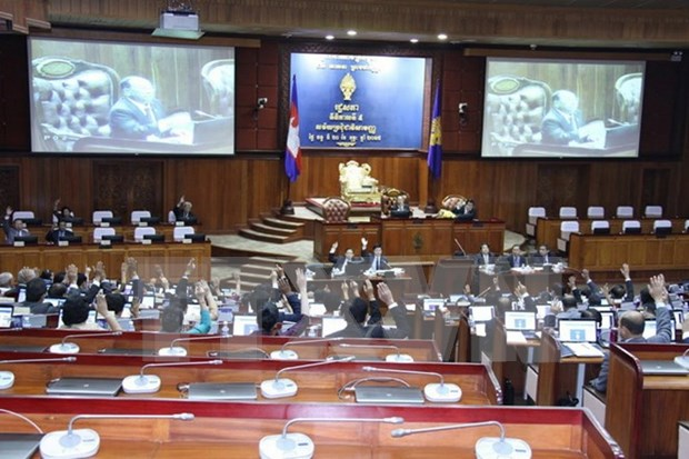 Parlamento camboyano aprueba cuatro leyes electorales modificadas hinh anh 1