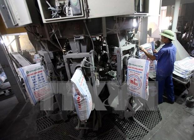 Exportacion anual de fertilizante vietnamita totaliza 800 mil de toneladas hinh anh 1