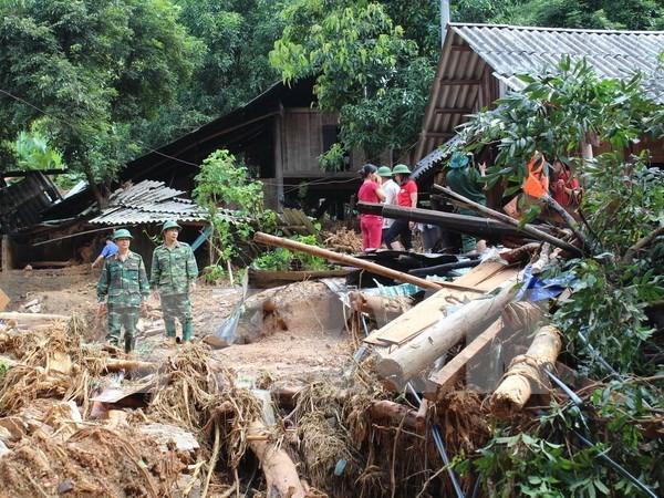 Inundaciones ocasionan graves perdidas en provincia vietnamita de Hoa Binh hinh anh 1