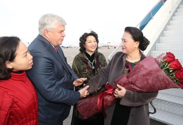 Presidenta del Parlamento vietnamita inicia visita oficial a Kazajstan hinh anh 1