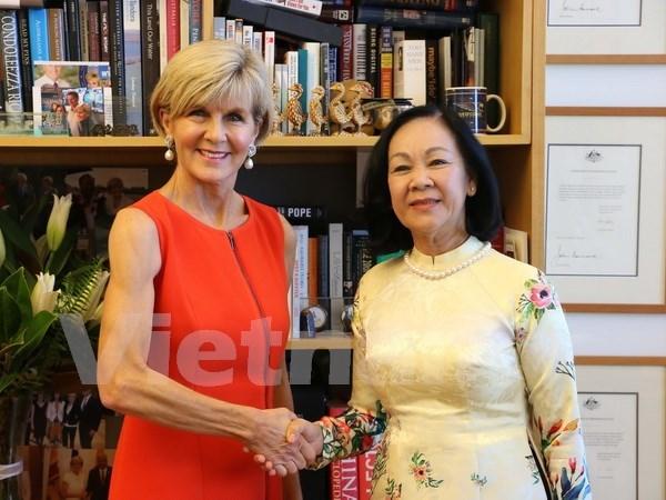 Delegacion del Partido Comunista de Vietnam visita Australia hinh anh 1
