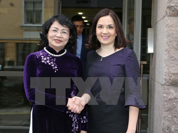 Vicepresidenta de Vietnam continua actividades en Finlandia hinh anh 1