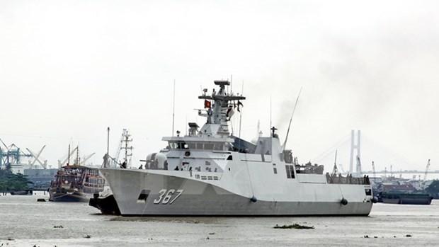 Flotilla de la Armada indonesia visita puerto de Ciudad Ho Chi Minh hinh anh 1