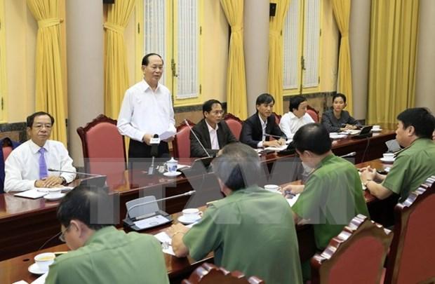Presidente de Vietnam exige maximas condiciones para la Cumbre del APEC hinh anh 1