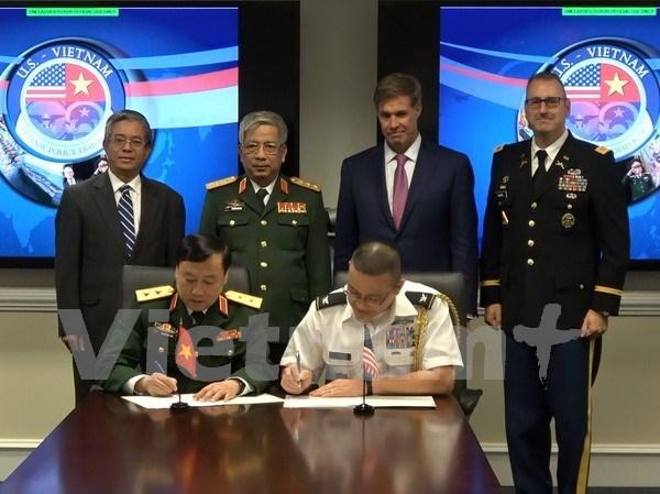 Superacion de secuelas de guerra, punto relevante en cooperacion en defensa entre Vietnam y EE.UU. hinh anh 1