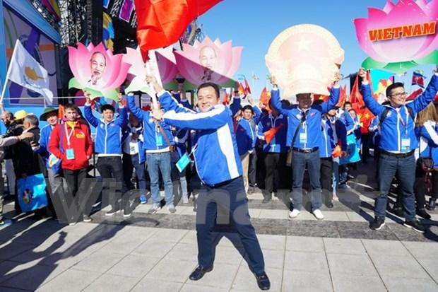 Delegacion vietnamita desarrolla actividades en XIX Festival Mundial de Juventud y Estudiantes hinh anh 1