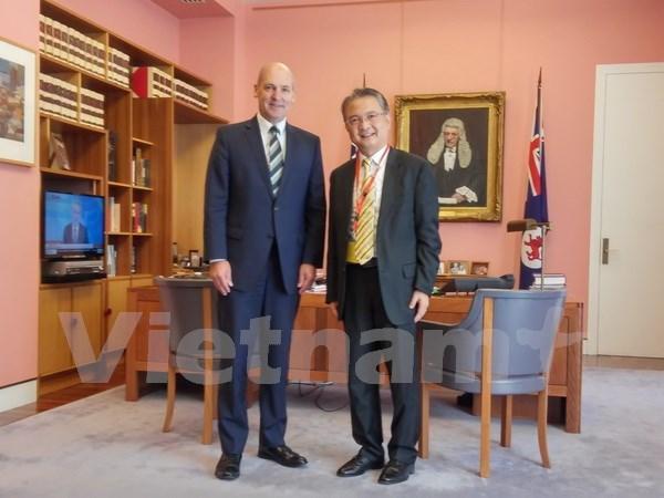 Presidente del Senado australiano destaca cooperacion con Vietnam hinh anh 1