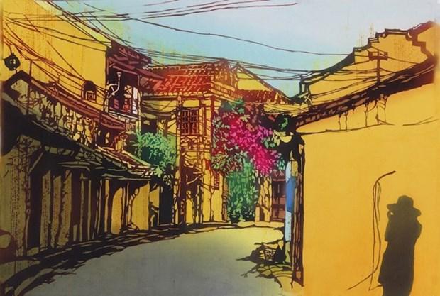 Pinturas de artista japonesa presentan un Vietnam en miniatura hinh anh 1