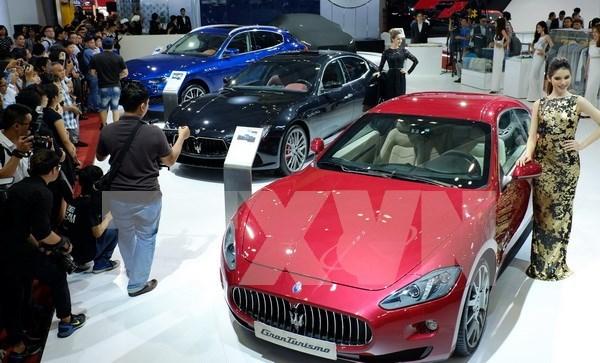 Celebres marcas mundiales se daran cita en exposicion internacional de autos Vietnam hinh anh 1
