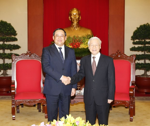 Maximo dirigente partidista de Vietnam reitera nexos con Laos hinh anh 1
