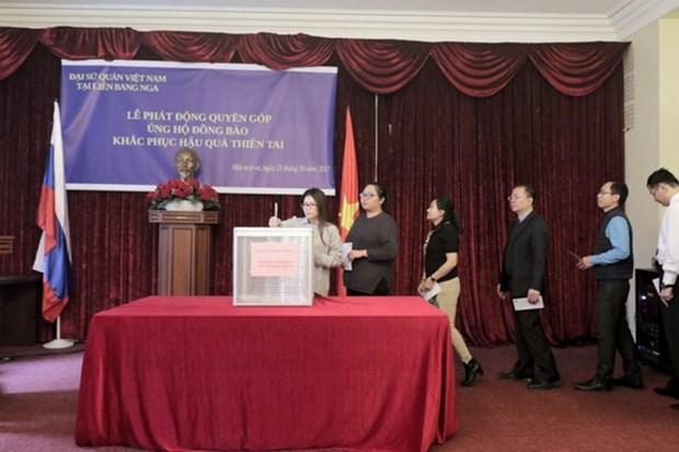 Embajada de Vietnam en Rusia recauda fondos para victimas de inundaciones hinh anh 1