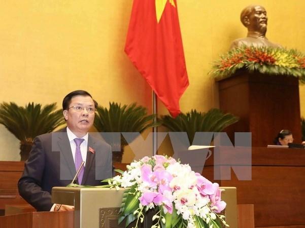 Presentan al Parlamento vietnamita informe sobre ejecuccion presupuestaria en 2017 hinh anh 1