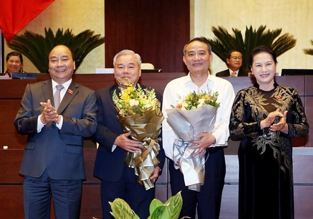 Parlamento vietnamita releva ministro de Transporte e inspector general del gobierno hinh anh 1