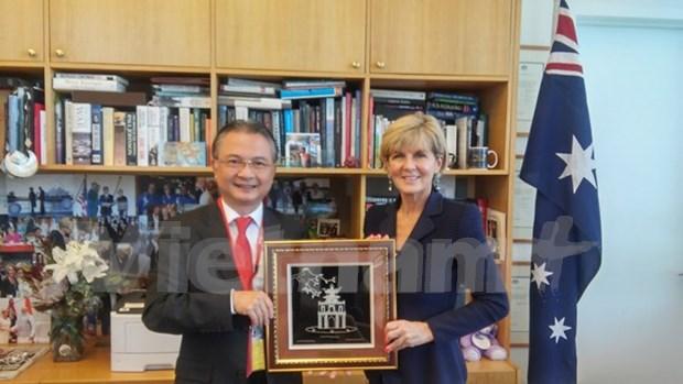 Australia cooperara con Vietnam para acelerar negociaciones sobre TPP hinh anh 1