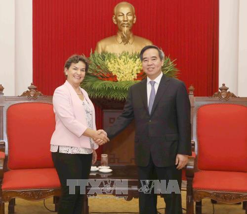 Dirigente vietnamita recibe a delegacion de la ONU sobre cambio climatico hinh anh 1