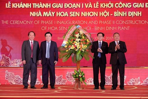 Grupo Hoa Sen finaliza primera fase de su mayor fabrica en Centro de Vietnam hinh anh 1