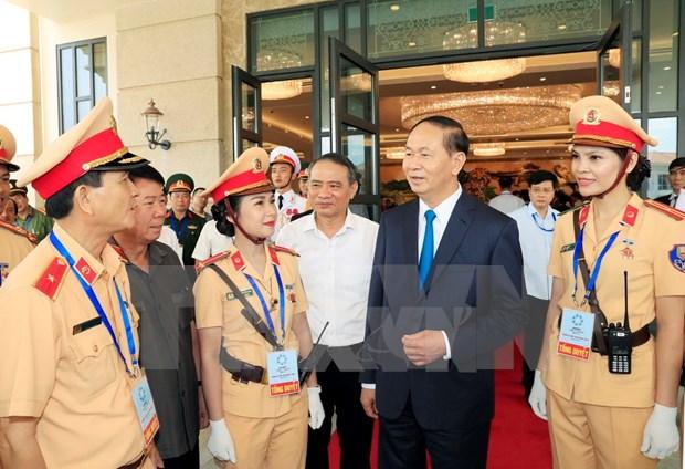 Presidente de Vietnam asiste al ensayo de proximas actividades de APEC 2017 hinh anh 1