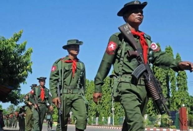 Miles de personas marchan en Myanmar para expresar apoyo al ejercito hinh anh 1