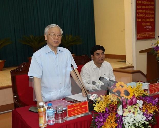 Nghe An necesita vision de desarrollo a largo plazo, dice dirigente partidista vietnamita hinh anh 1