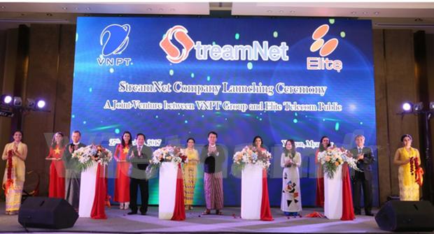 StreamNet, fruto de la cooperacion de grupo vietnamita VNPT y contraparte myanmena hinh anh 1