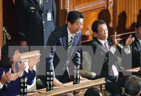 Dirigentes vietnamitas felicitan a lideres japoneses por sus reelecciones hinh anh 1