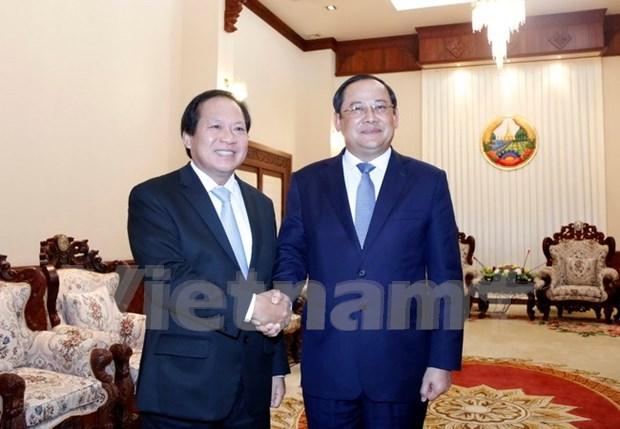 Vietnam y Laos por fortalecer lazos en informacion y comunicacion hinh anh 1
