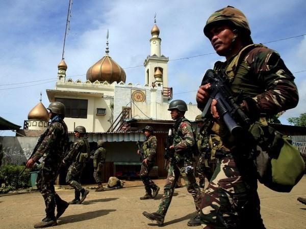 Policia filipina arresta a militante indonesio en Marawi hinh anh 1