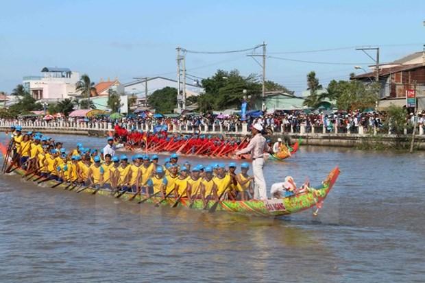Celebran en Vietnam festival Ok Om Bok de etnia Khmer hinh anh 1