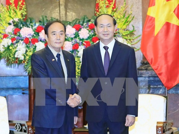 Presidente de Vietnam reitera papel de empresas en fortalecimiento de nexos con Japon hinh anh 1
