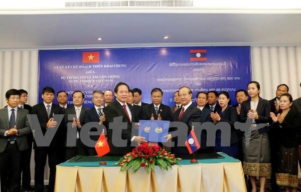 Vietnam y Laos impulsan cooperacion informativa hinh anh 1