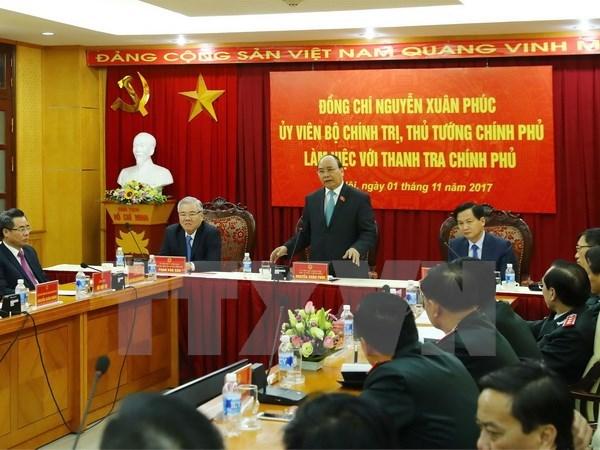 Premier vietnamita sostiene encuentro con nuevo inspector general del gobierno hinh anh 1