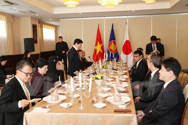 Canciller japones y embajadores de ASEAN en Tokio destacan significado del APEC hinh anh 1