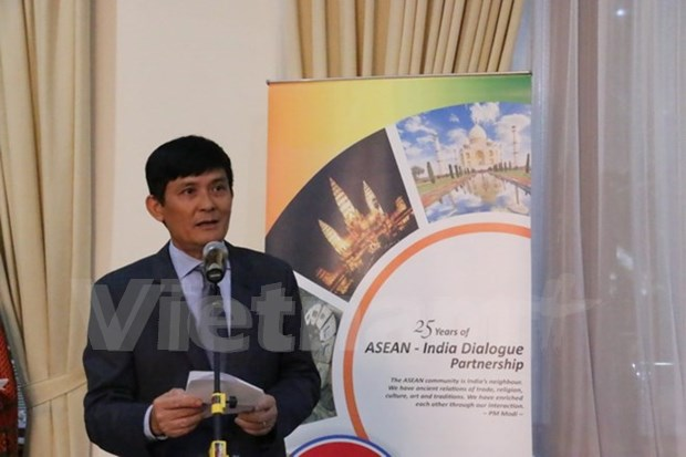 ASEAN e India celebran aniversario 25 de establecimiento de nexos bilaterales hinh anh 1
