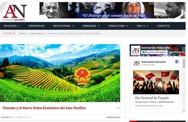 Medios de comunicacion argentinos publican sobre APEC 2017 en Vietnam hinh anh 1