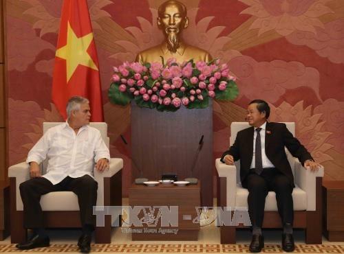 Dirigentes vietnamitas reciben a delegacion de Cuba hinh anh 1