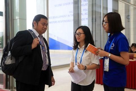 Voluntarios jovenes de Da Nang trabajan por el exito de Cumbre del APEC hinh anh 1