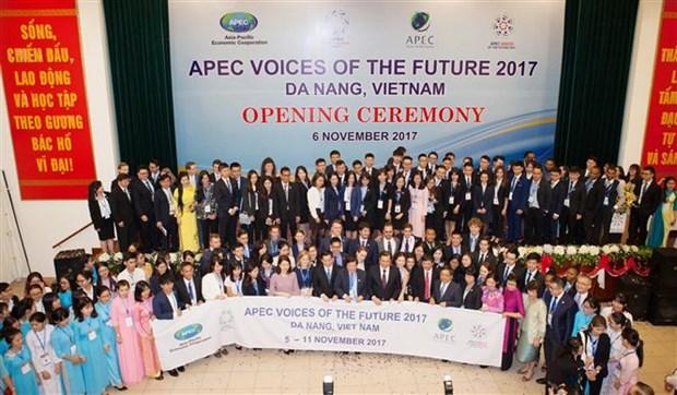 Inauguran Foro Voces del Futuro del APEC 2017 en ciudad vietnamita de Da Nang hinh anh 1
