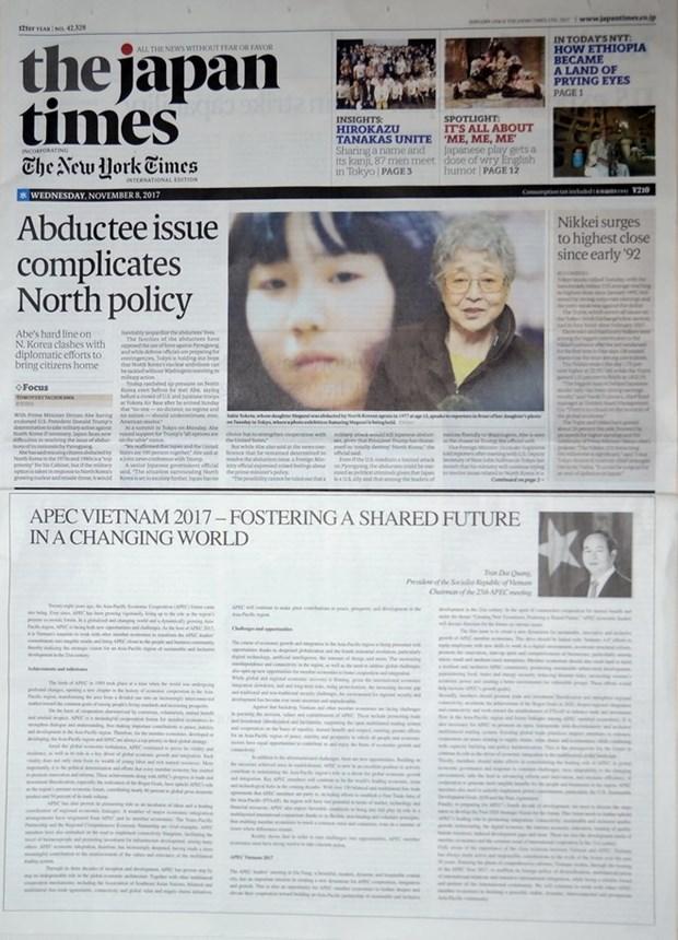 Publican periodicos internacionales articulo de presidente vietnamita sobre Cumbre del APEC hinh anh 1
