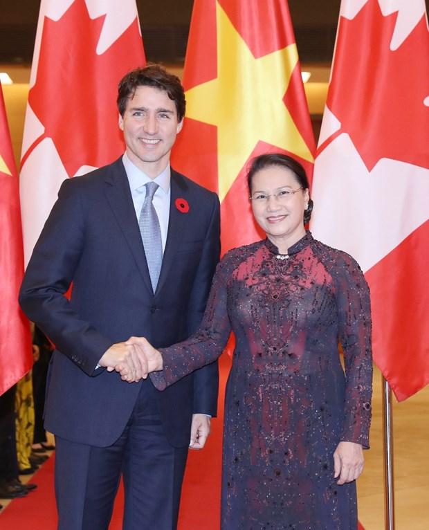 Presidenta del Parlamento vietnamita aprecia politica exterior de Canada hinh anh 1
