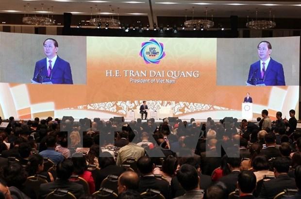 Presidente de Vietnam destaca aportes de comunidad empresarial en logros del APEC hinh anh 1