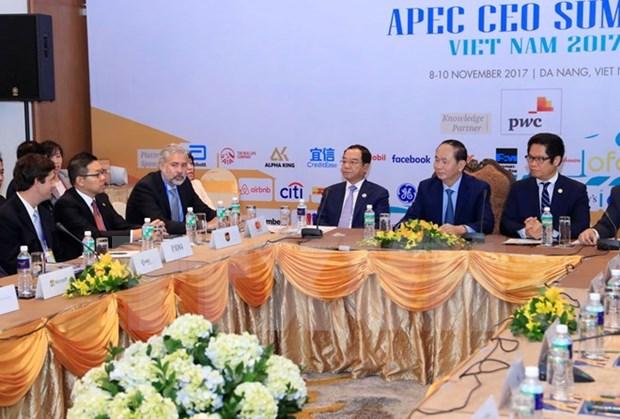 Presidente de Vietnam se reune con empresarios estadounidenses hinh anh 1