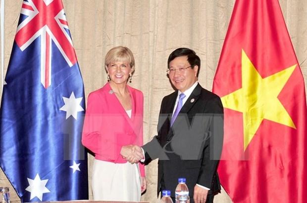Vietnam juega importante rol en politica exterior de Australia, afirma canciller Bishop hinh anh 1