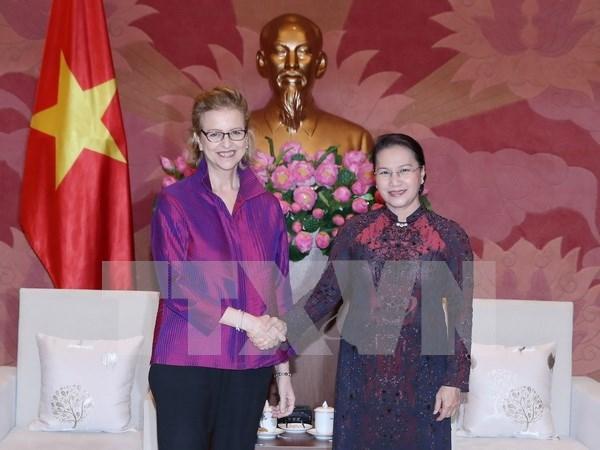 Presidenta del Parlamento de Vietnam destaca apoyo de la ONU hinh anh 1