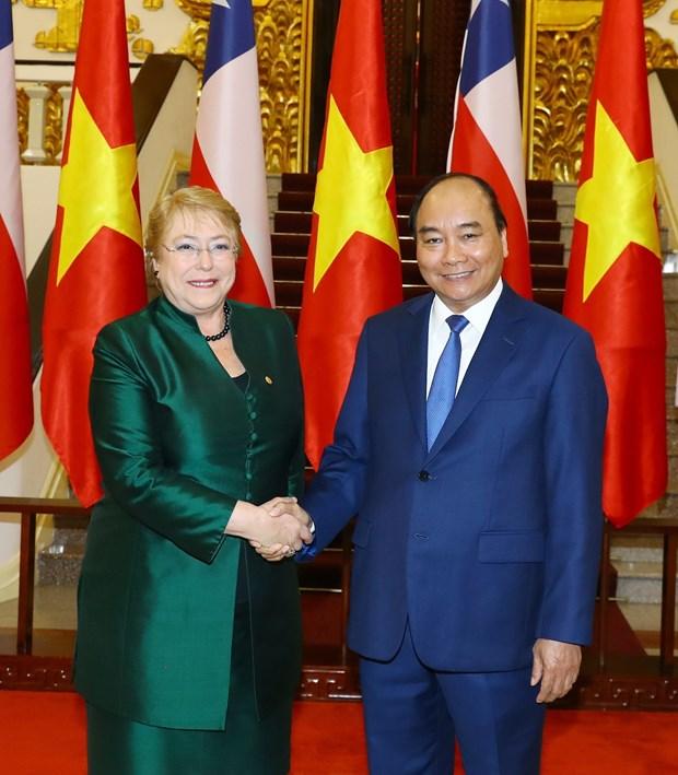 Premier de Vietnam propuso facilitar acceso de productos agricolas al mercado de Chile hinh anh 1