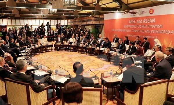 APEC 2017: Presidente vietnamita preside Dialogo APEC- ASEAN hinh anh 1