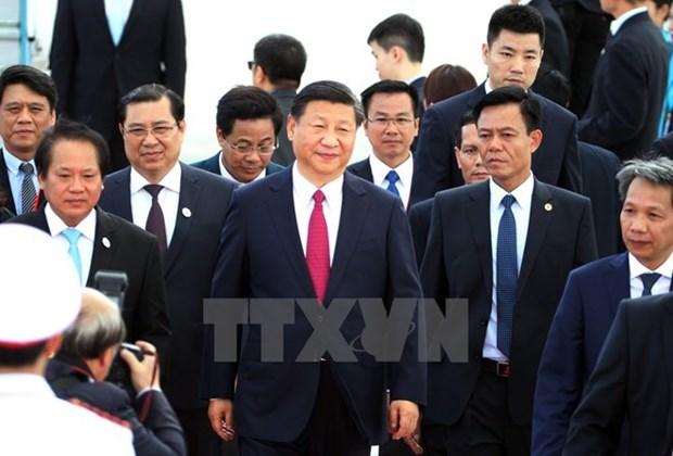 Visita de Xi Jinping mantendra tendencia positiva de relaciones Vietnam- China hinh anh 1