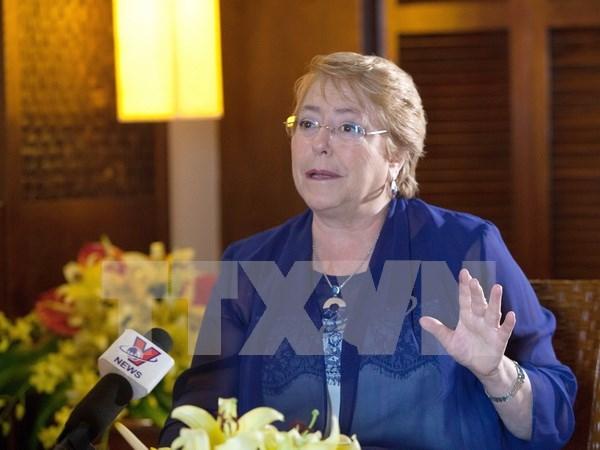 Bachelet: Unidos en su vision de APEC, Chile y Vietnam buscan fortalecer sus nexos bilaterales hinh anh 1