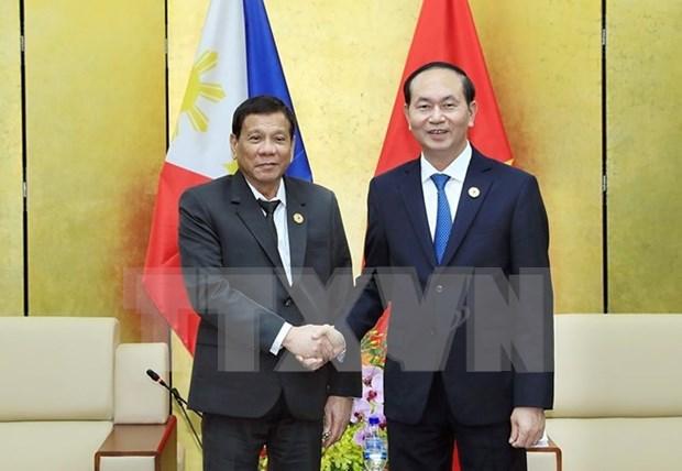 APEC 2017: Vietnam y Filipinas acuerdan impulsar asociacion bilateral hinh anh 1